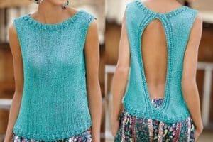 Las blusas tejidas en dos agujas modernas dentro de tu look