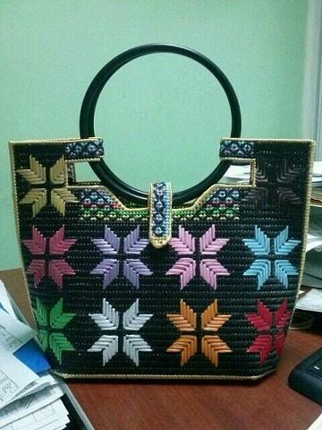 bolsas de rafia hechas a mano con diseños