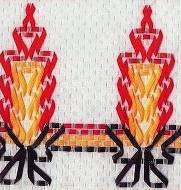 bordados en cinta navideños para camino de mesa