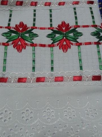 bordados en cinta navideños para mantas
