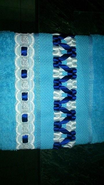 bordados en cinta para toallas de hombre
