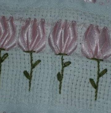 bordados en cinta para toallas de mujer
