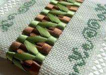 Haz bordados en cinta para toallas personalizadas y lindas