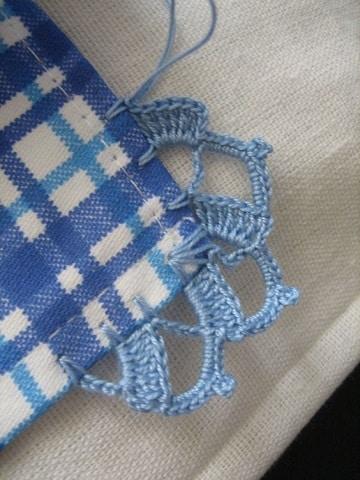 como hacer puntillas de ganchillo en manta