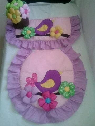 como hacer tapetes para baño con tela
