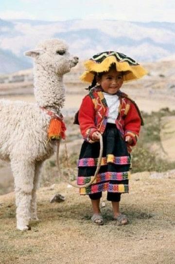 como se vestian los incas niños