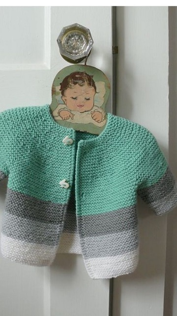 como tejer un sueter para bebe niños