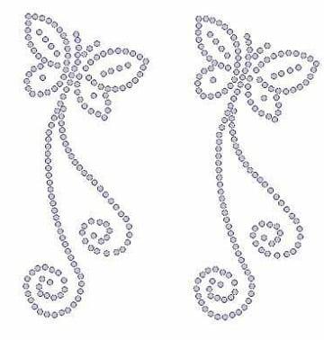 dibujos para bordar en pedreria para niñas