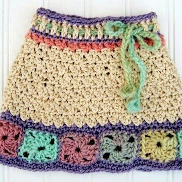faldas tejidas a crochet para niña de 9 años
