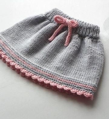 faldas tejidas a crochet para niña dos agujas
