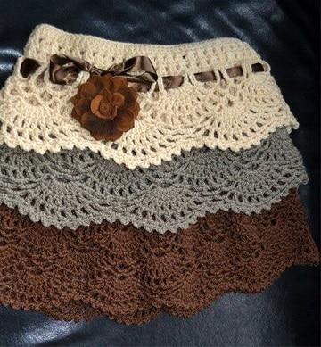 faldas tejidas a crochet para niña varios colores