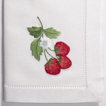 imagenes de servilletas bordadas para cocina