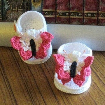 imagenes de zapatos tejidos para bebe niña