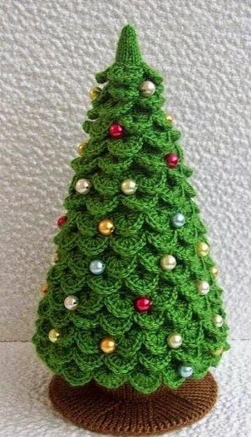 manualidades tejidos a crochet para navidad pino