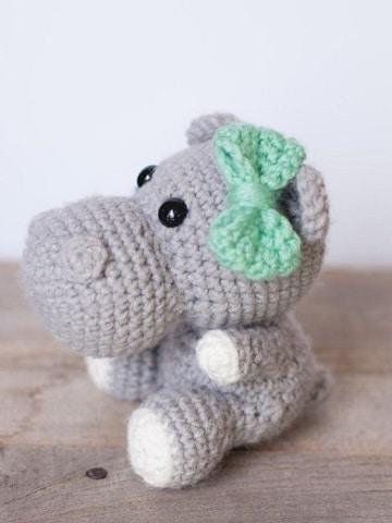muñecos de ganchillo para bebes hipopotamo