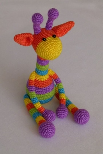 muñecos de ganchillo para bebes jirafa