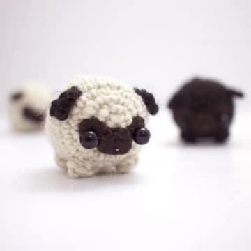 muñecos de ganchillo para bebes pug
