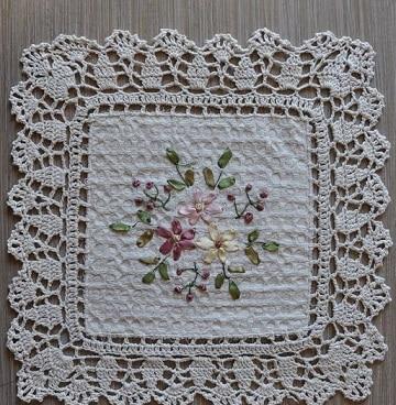 ondas para servilletas crochet