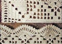 Diseños de puntillas con ondas para servilletas decoradas