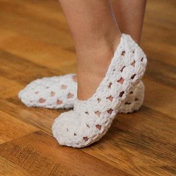 pantuflas tejidas a crochet para mujer ideas