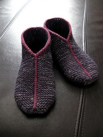 pantuflas tejidas a crochet para mujer modernas