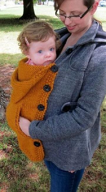 porta bebe tejido a crochet ideas