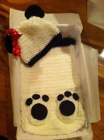 porta bebe tejido a crochet practico