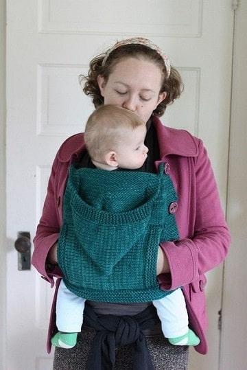 porta bebe tejido a crochet practicos