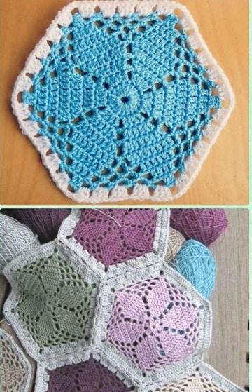 Como Hacer Cuadros De Crochet Para Mantas.Los Puntos De Ganchillo Para Mantas Modernas Con Pastillas