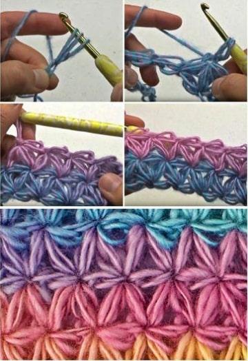puntos para tejer bufandas con gancho