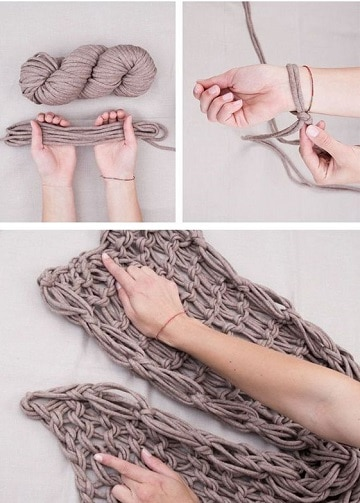 puntos para tejer bufandas con trapillo