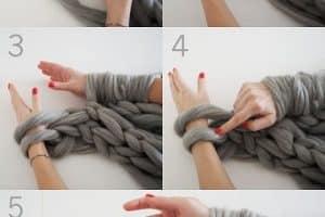 Conoce los puntos para tejer bufandas con dedos o ganchillo