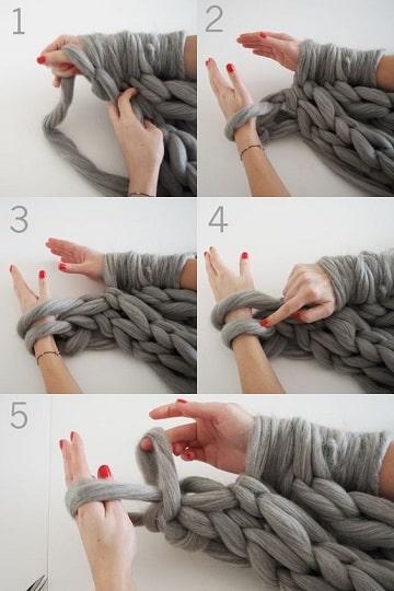 puntos para tejer bufandas paso a paso