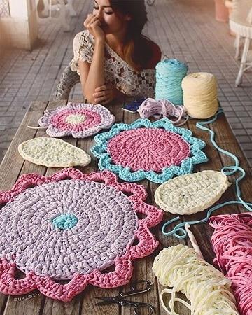 tapetes tejidos a mano con trapillo