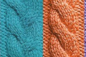 Sencillos y variados tipos de puntos para tejer a dos agujas