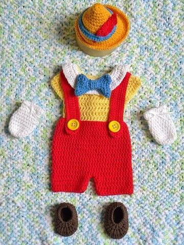 trajecitos tejidos para bebe pinocho