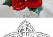Estrellas y flores como adornos navideños a crochet patrones
