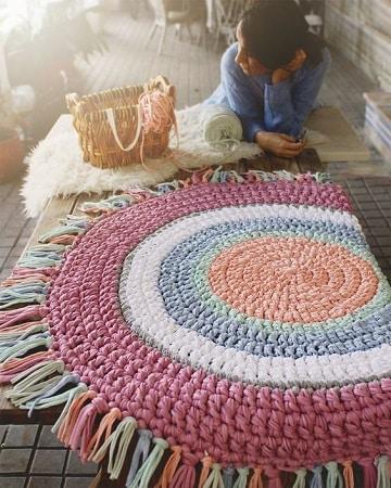 alfombras de trapillo ovaladas de colores