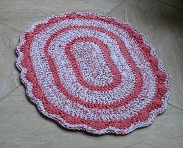 alfombras de trapillo ovaladas para baño