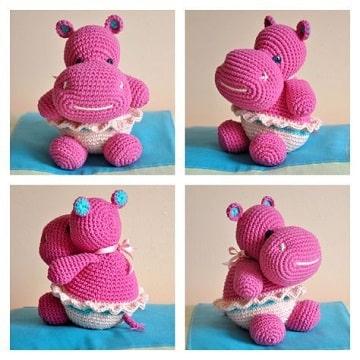 animales tejidos a crochet paso a paso hipopotamo