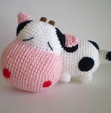 animales tejidos a crochet paso a paso vaca