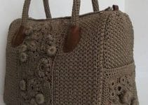 Diseños diferentes de bolsas tejidas a gancho paso a paso
