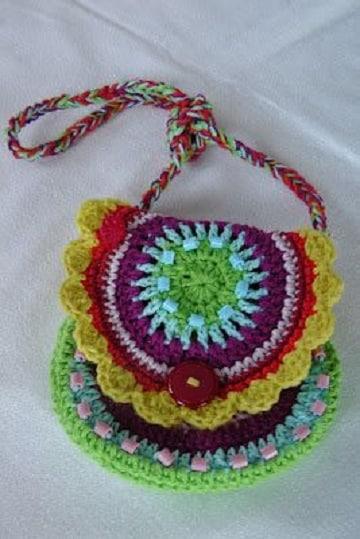 bolsas tejidas para niña estilo mandala