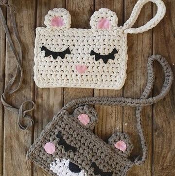 bolsos tejidos a crochet para niña de animales