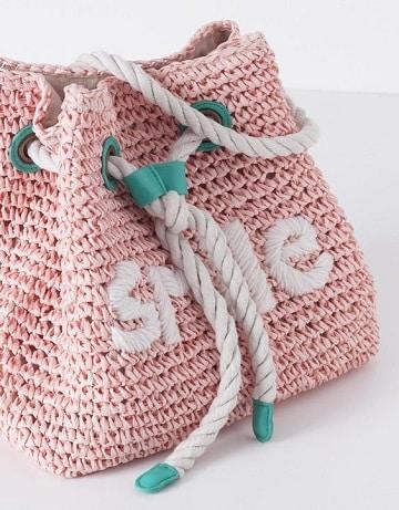 bolsos tejidos a crochet para niña rosa