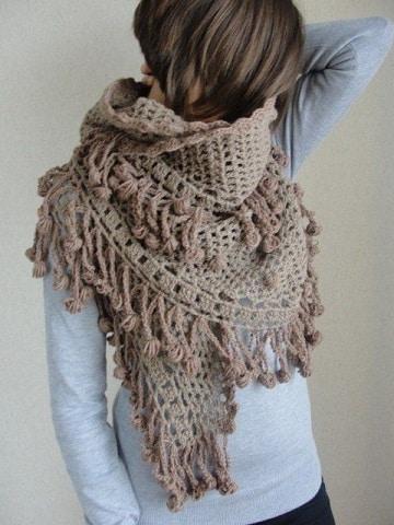 bufandas de ganchillo para mujer grande