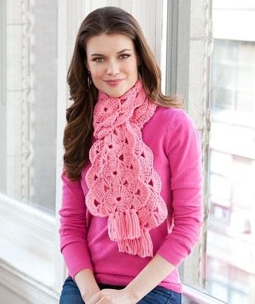 bufandas de ganchillo para mujer ideas