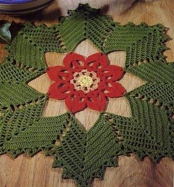 carpetas navideñas en crochet ideas