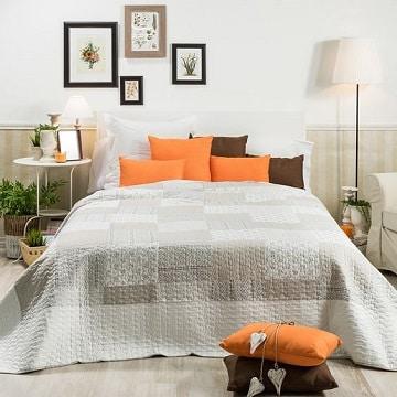 colchas para camas de matrimonio dos agujas