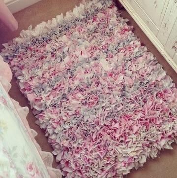 como hacer alfombras de nudos de colores